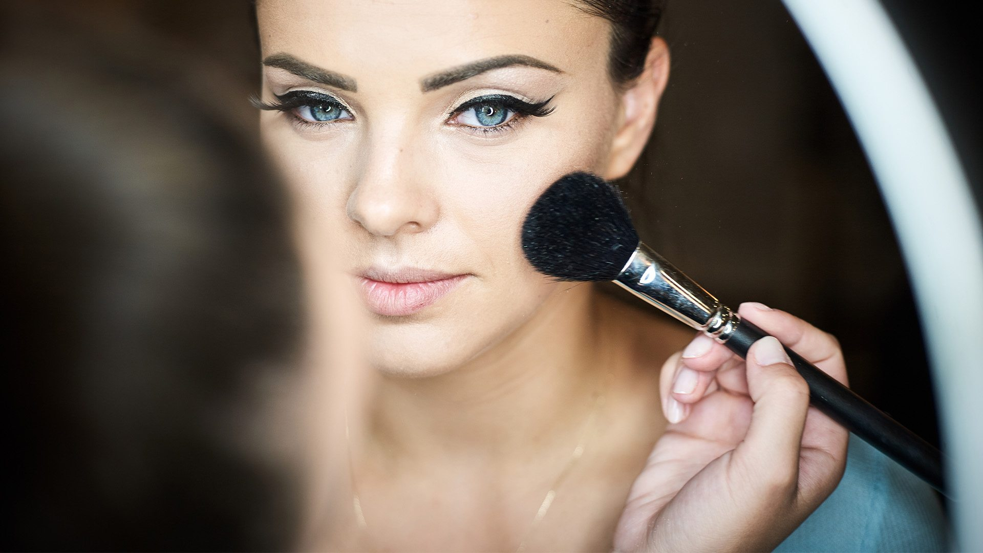 Beauty Items - Used Makeup with beautifull girl