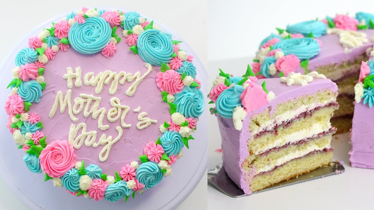 Heart-Shaped Cake for mother's day